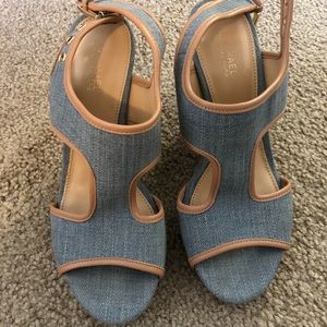 Michael Kors Denim Sandal tried once!99new!!! ❤️